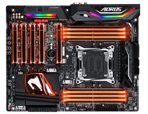 Picture of GIGABYTE AORUS X299 AORUS Gaming WIFI Series Intel X299 SATA 6Gb/s USB 3.1 ATX