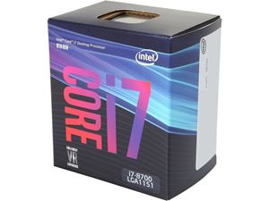 Picture of  Intel Core i7-8700 Processor 3.2GHz 8.0GT/s 12MB LGA 1151 CPU