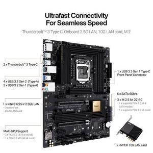 Picture of Asus ProArt Z490-CREATOR 10G ntel Z490/ DDR4/ 3-Way CrossFireX/ SATA3&USB3.2&Thunderbolt 3 Type-C/ M.2/ ATX