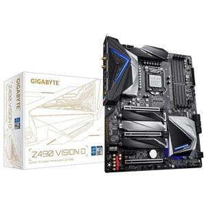 Picture of GIGABYTE Z490 VISION D Intel Z490/ DDR4/ 2-Way SLI & 2-Way CrossFire/ SATA3&USB3.2/ M.2/ WiFi&Bluetooth/ ATX