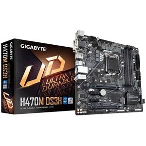 Picture of GIGABYTE H470M DS3H Intel H470/ DDR4/ Quad-GPU & 2-Way CrossFire/ SATA3&USB3.2/ M.2/ Micro ATX